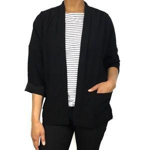 Aritzia Babaton Japanese Crepe Open Blazer Jacket